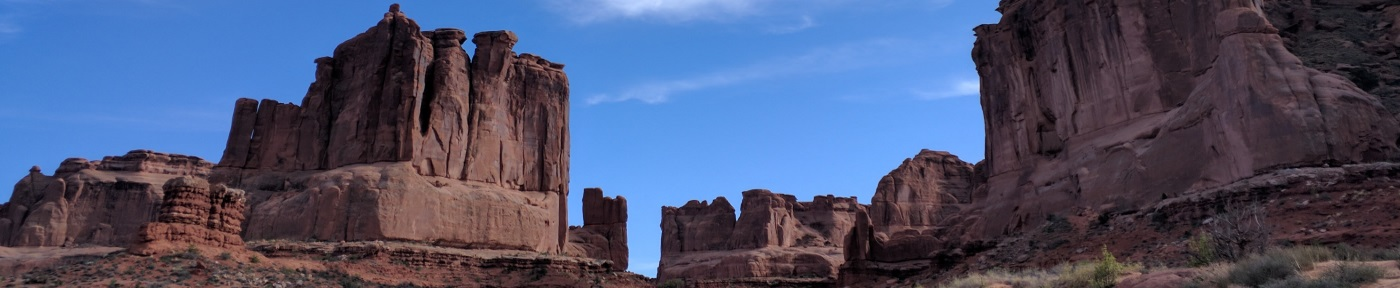 Banner - At the start of Wall Street, Arches NP, Utah